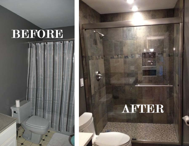Bath Remodel Before/After