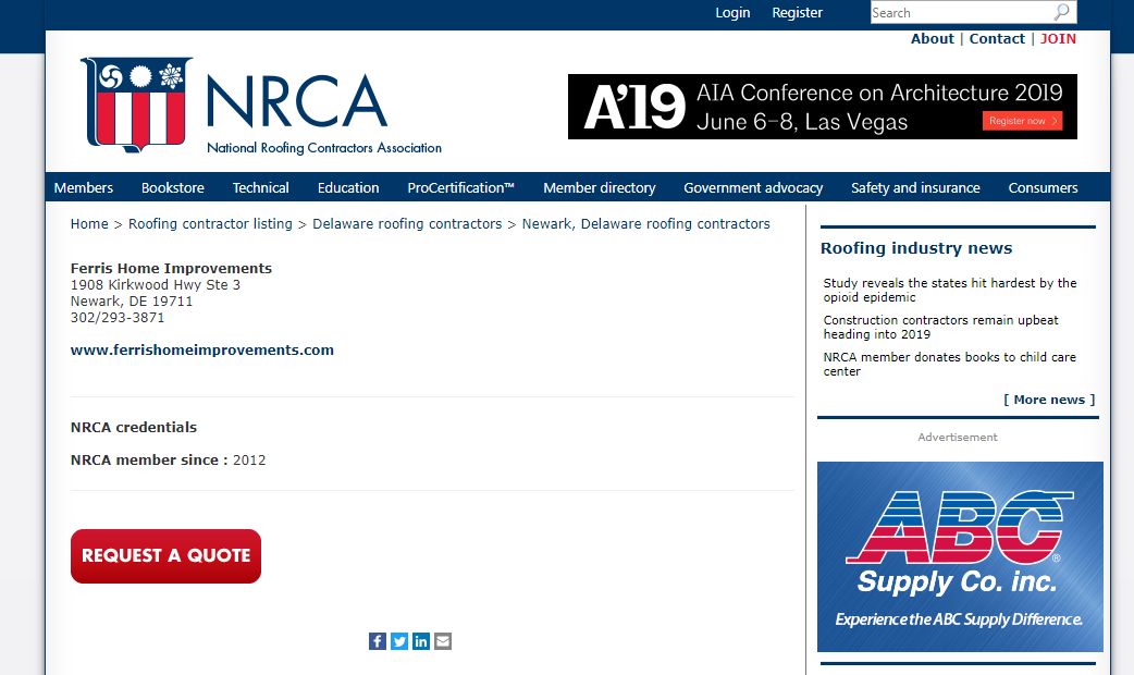 NCRA member since 2012