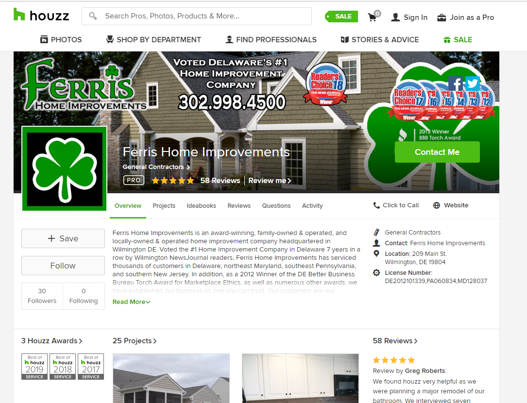 houzz reviews ferris home improvements