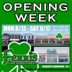 Ferris Home Improvements Rehoboth Beach Showroom Grand Opening